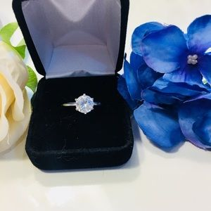 Jewelry - Diamond 925 Sterling Silver Solitaire Ring
